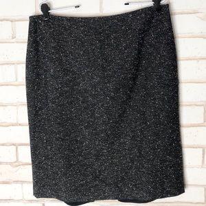 St John Couture Black Metalic Sparkle Skirt Sz 12